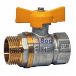 Кран шаровый для газа Santan 607, 1'' НВ ЖБ