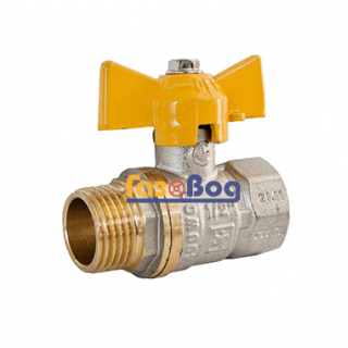 Кран шаровый для газа Santan 607, 1/2'' НВ ЖБ