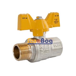 Кран шаровый для газа Santan 607, 1/2'' НВ ЖБ, Premium