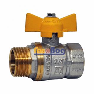 Кран шаровый для газа Santan 607, 3/4'' НВ ЖБ