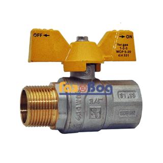 Кран шаровый для газа Santan 607, 3/4'' НВ ЖБ, Premium