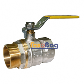 Кран шаровый для газа Santan 605, 1 1/2'' НВ ЖР, Professional