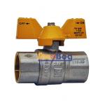 """Кран шаровый для газа Santan 602, 3/4"""" ВВ ЖБ, Premium"""