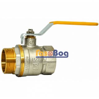 Кран шаровый для газа Santan 605, 1 1/2'' НВ ЖР